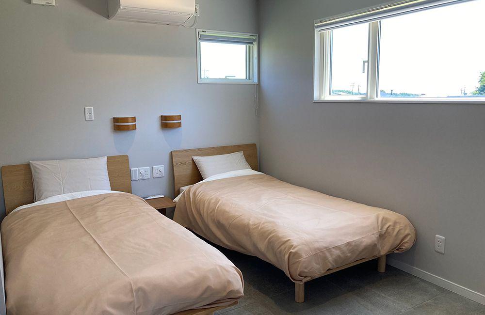 ベッドルーム6畳ツインベッド 定員3名