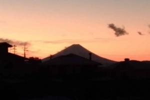 朝ぼらけの富士